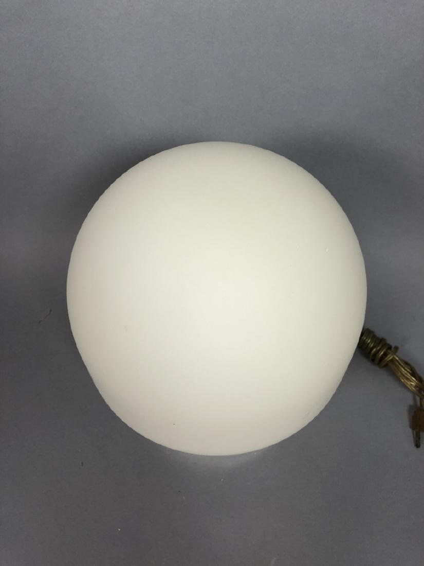 LAUREL Frosted Milk Glass Mushroom Table Lamp. Wi - 4