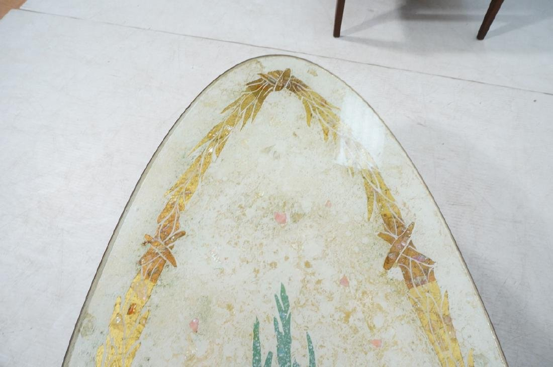 Decorator Oval Brass Glass Cocktail Table. Gold f - 10