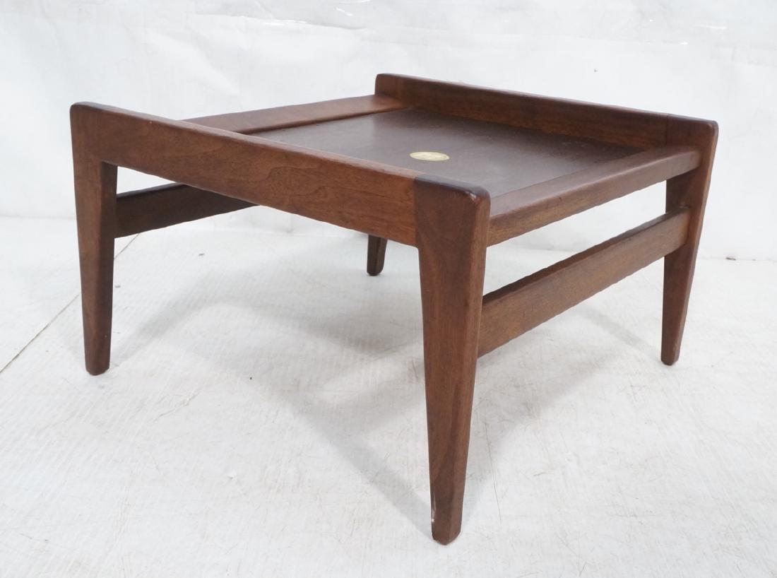 JENS RISOM American Modern Walnut Stool Bench. Wa