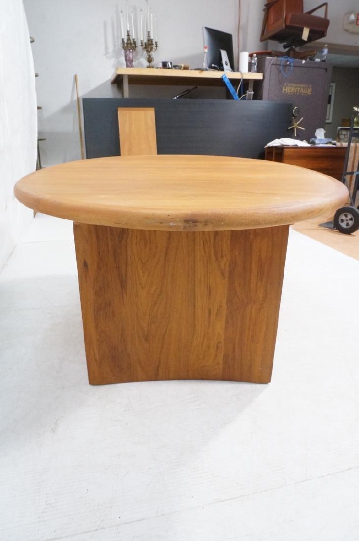 Danish Modern Teak Oval Dining Table Banded Trim. - 5