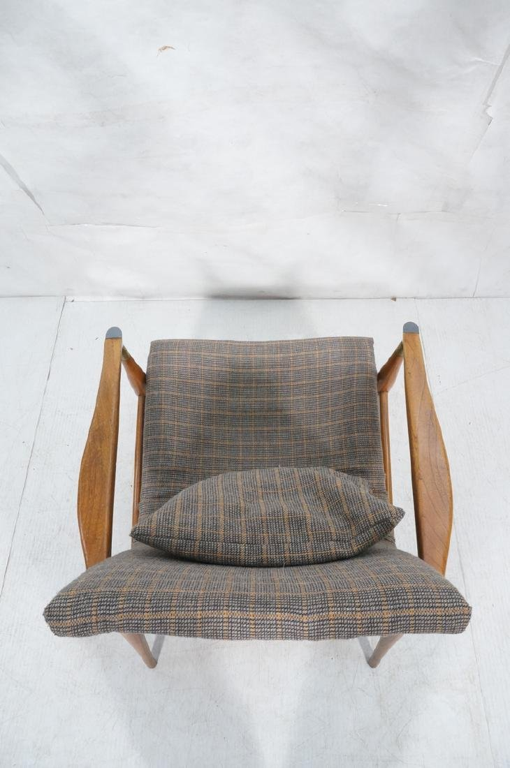 Mid Century Modern Lounge Chair. Stylized arms & - 6