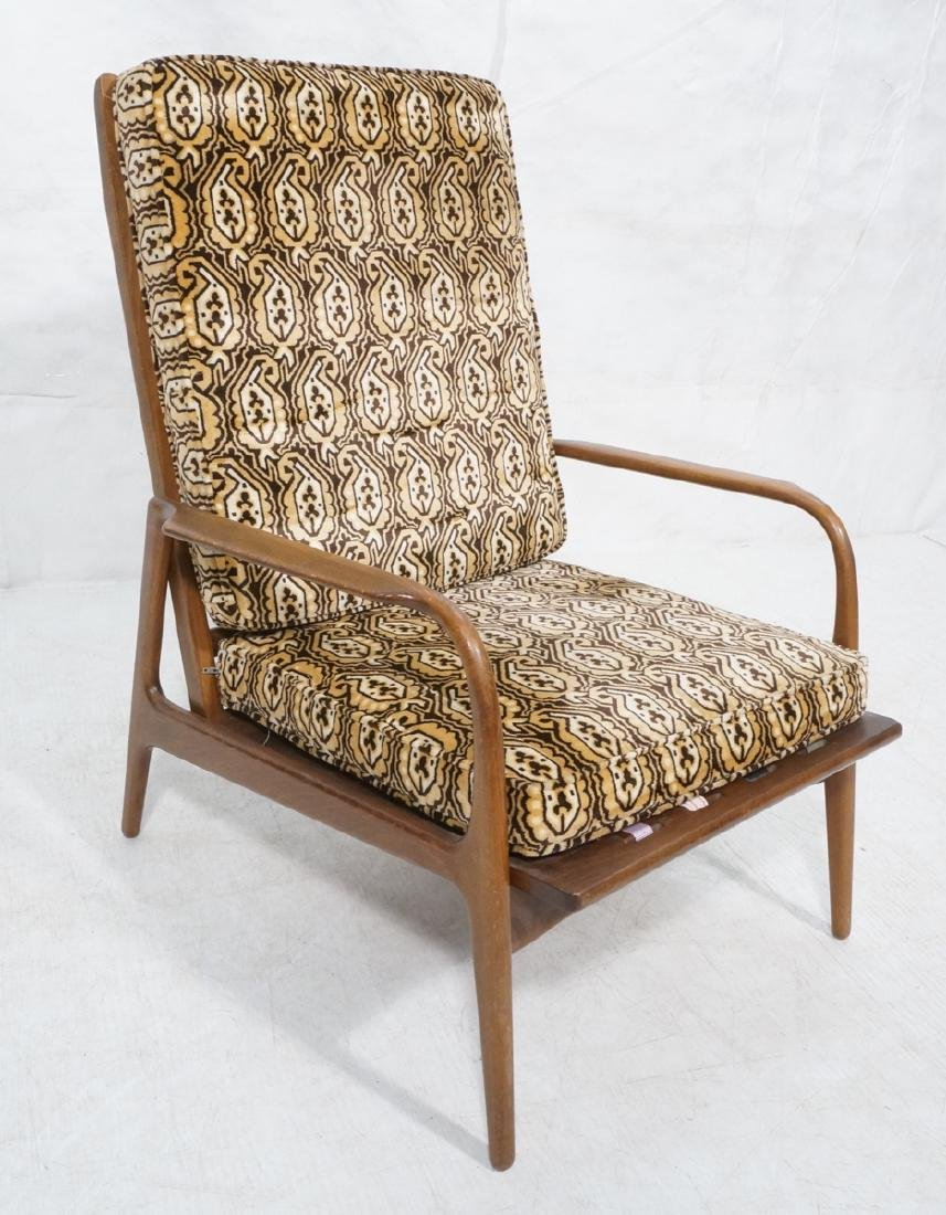 Tall Back Modernist Lounge Chair. Wood frame with