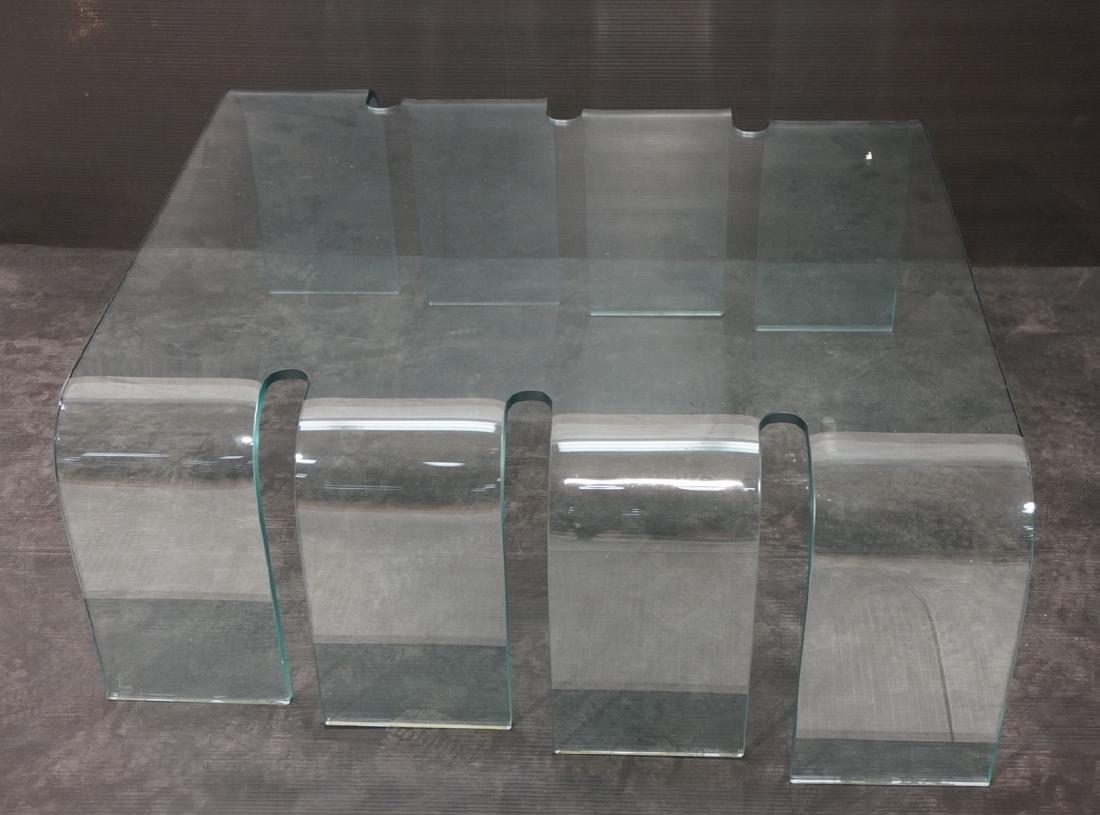 FIAM Italian Slump Molded Glass Cocktail Table. .