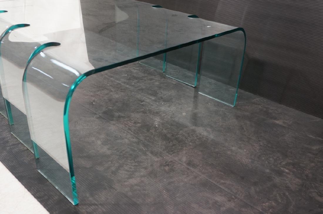 FIAM Italian Slump Molded Glass Cocktail Table. . - 3