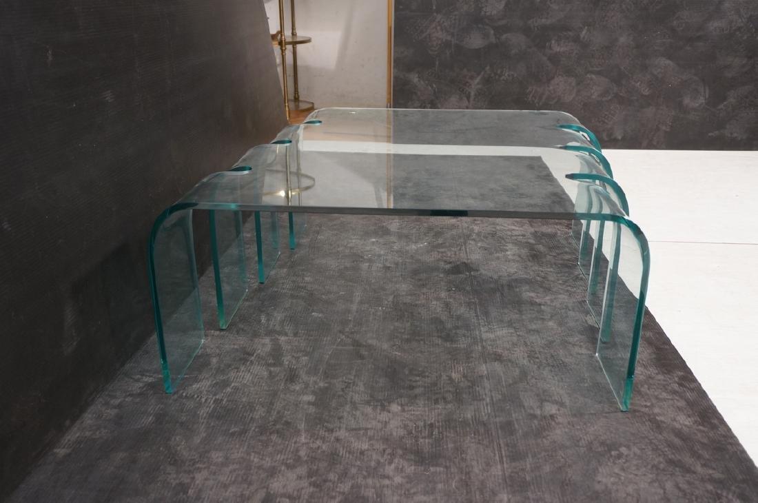 FIAM Italian Slump Molded Glass Cocktail Table. . - 5