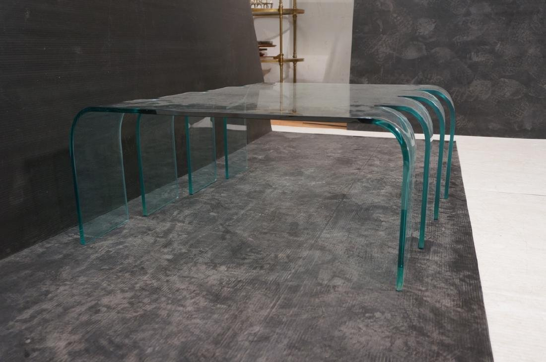 FIAM Italian Slump Molded Glass Cocktail Table. . - 6