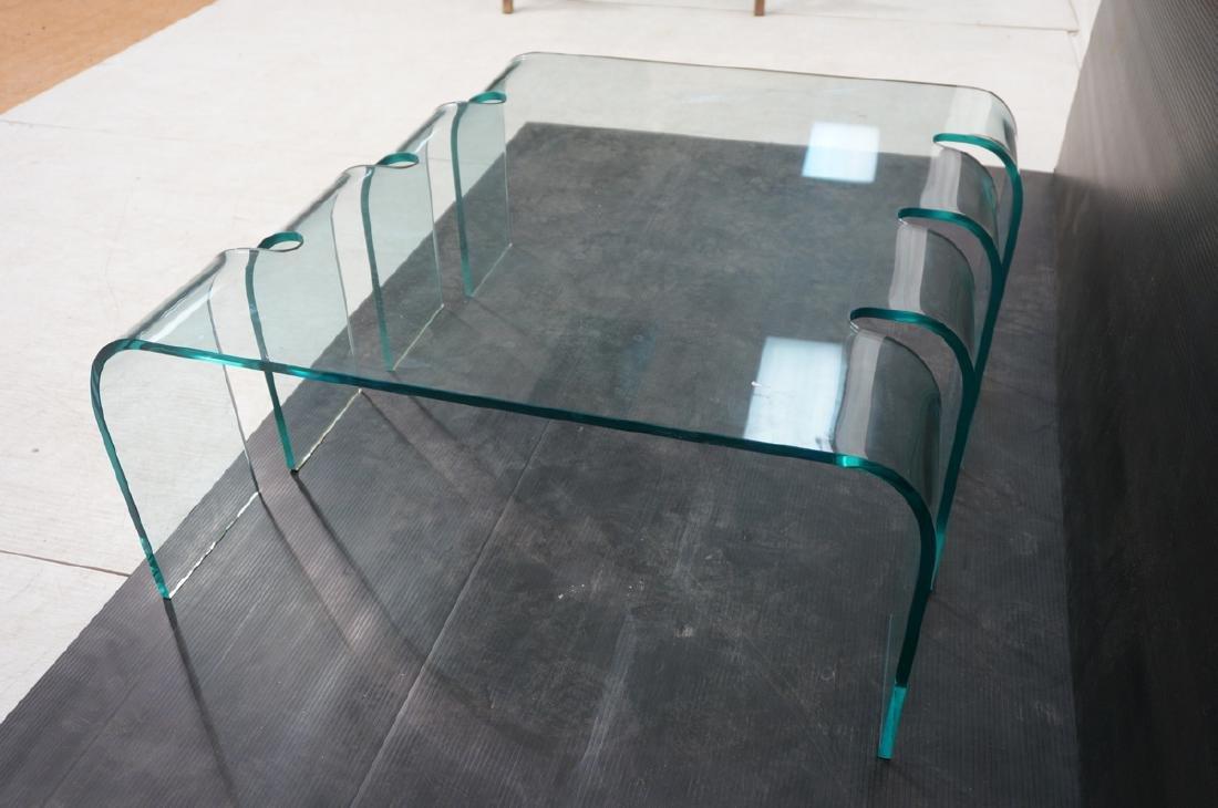 FIAM Italian Slump Molded Glass Cocktail Table. . - 7