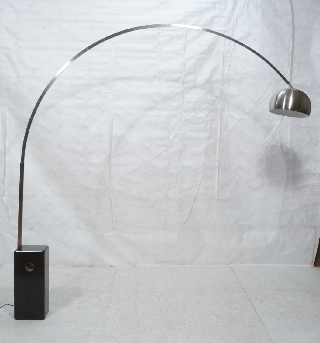 Arco Style Floor Lamp.  Arched form with dome sha