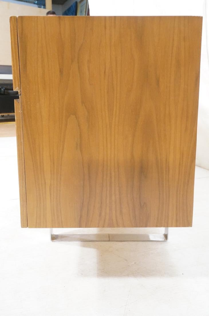 Modernist Walnut 4 Drawer Credenza Sideboard Cabi - 3