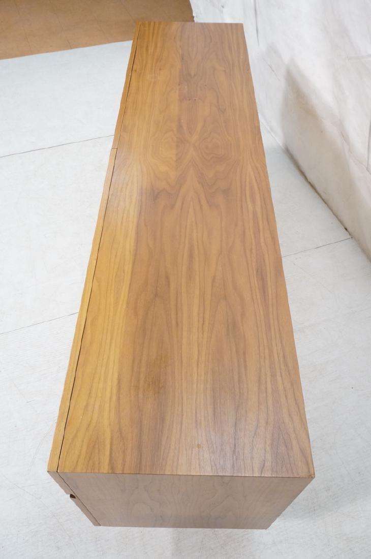 Modernist Walnut 4 Drawer Credenza Sideboard Cabi - 5
