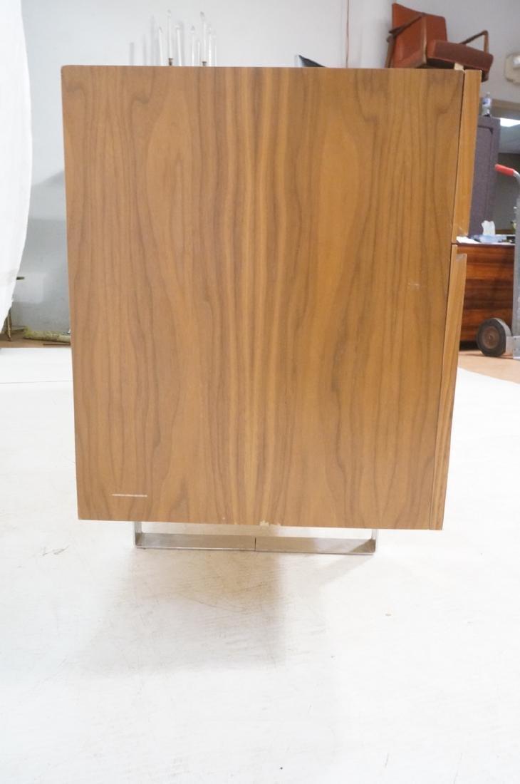 Modernist Walnut 4 Drawer Credenza Sideboard Cabi - 6