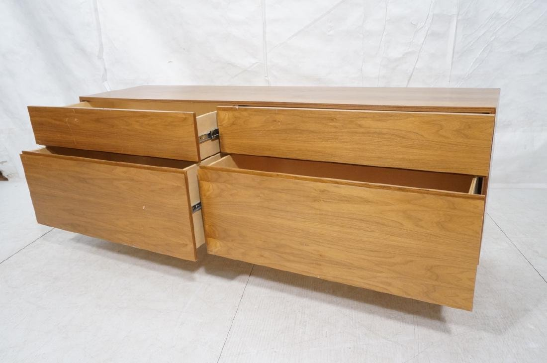 Modernist Walnut 4 Drawer Credenza Sideboard Cabi - 7