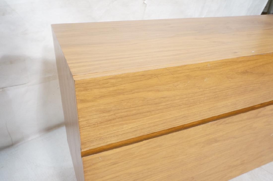 Modernist Walnut 4 Drawer Credenza Sideboard Cabi - 8