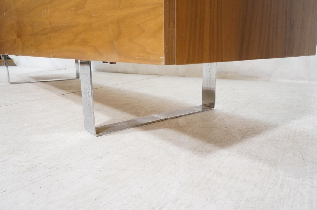 Modernist Walnut 4 Drawer Credenza Sideboard Cabi - 9