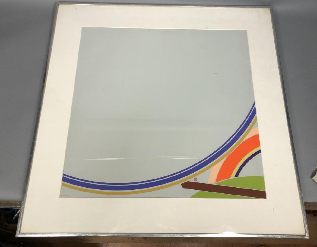 PURCELL Graphic Modernist Silkscreen Print. Gray