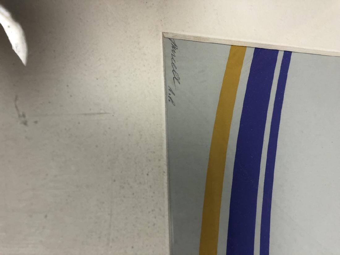 PURCELL Graphic Modernist Silkscreen Print. Gray - 2