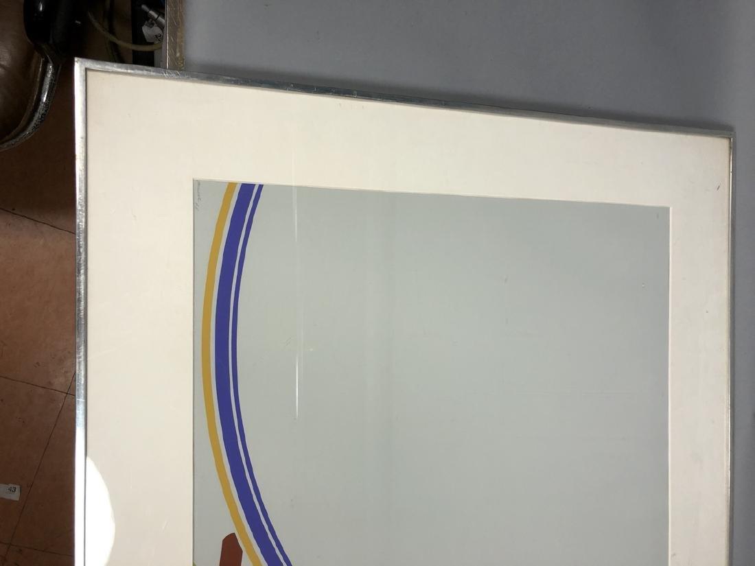 PURCELL Graphic Modernist Silkscreen Print. Gray - 3