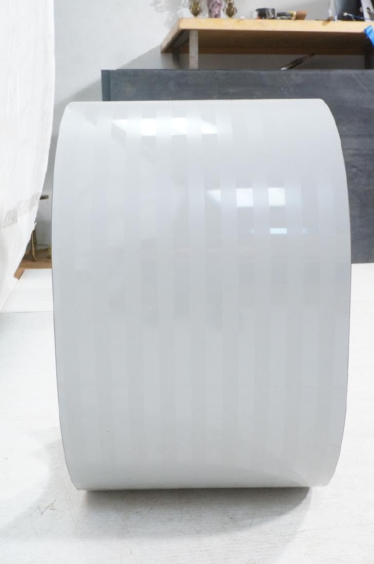 Gray Laminate Modernist Hall Table. Rolled sides. - 3