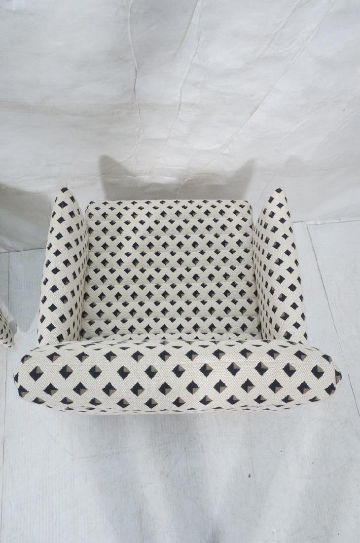 Pr Italian Style Upholstered Arm Lounge Chairs. F - 6