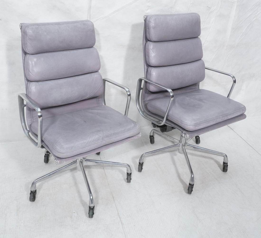 Pr CHARLES EAMES Aluminum Group Office Chairs. Me