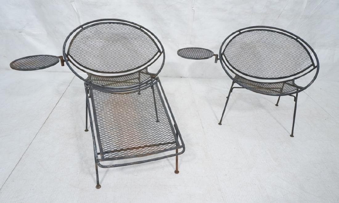 Pr TEMPESTINI for SALTERINI Circle Patio Chairs.