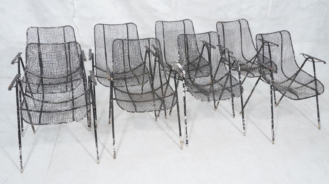 8pc Outdoor Patio Chairs RUSSELL WOODARD. Each wi