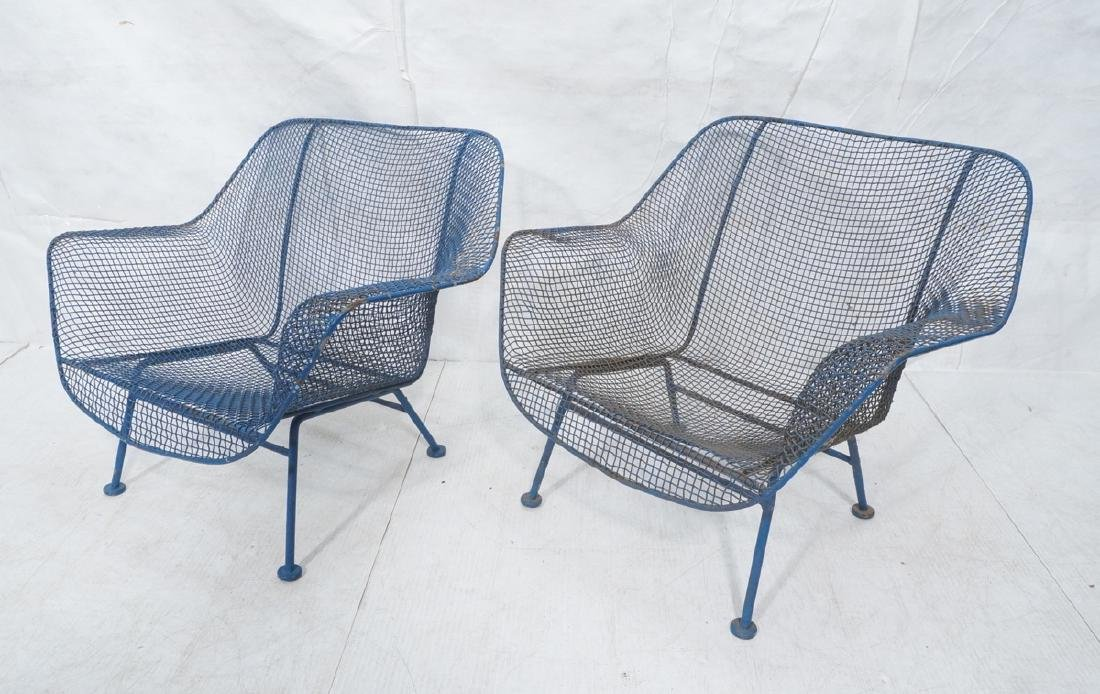 2 RUSSELL WOODARD Wide Arm Lounge Chairs. Grid fo