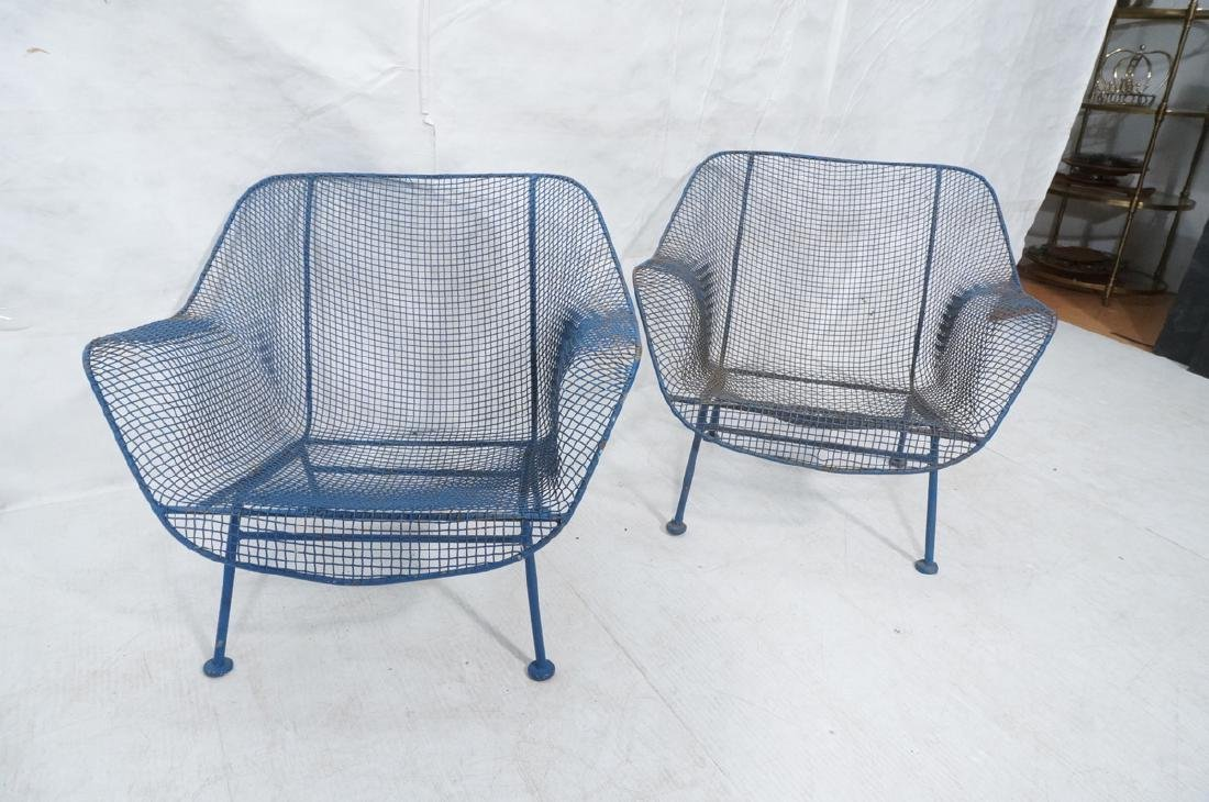 2 RUSSELL WOODARD Wide Arm Lounge Chairs. Grid fo - 3