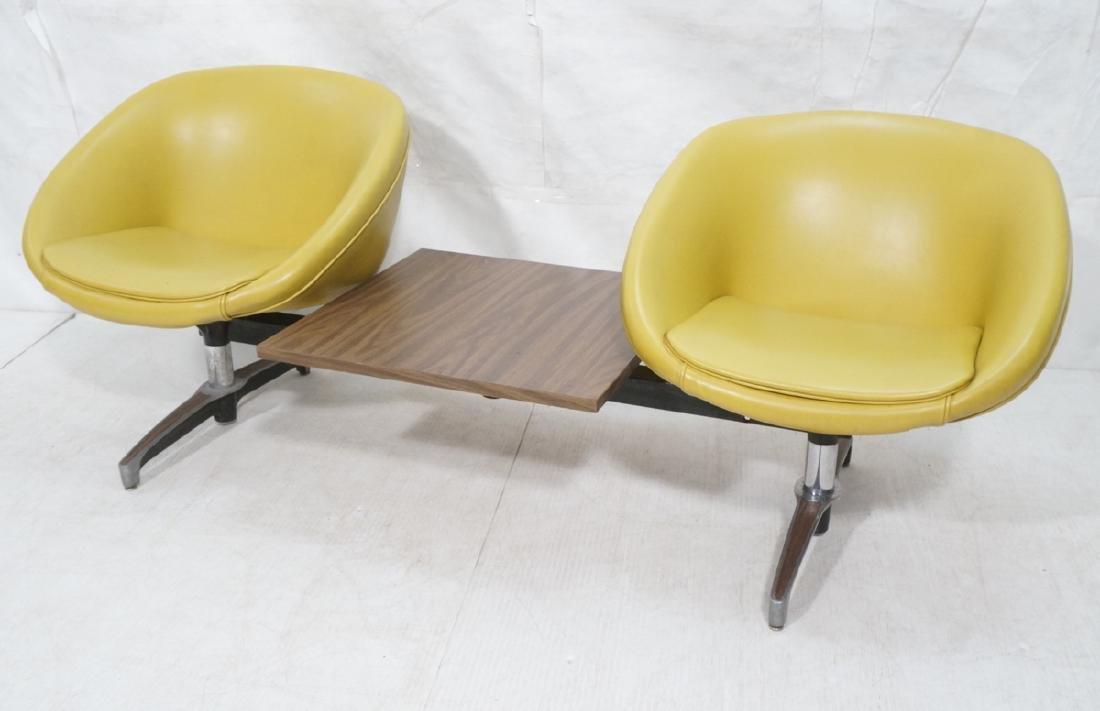 CHROMCRAFT 2 Chair & Table Unit. 2 gold vinyl bub