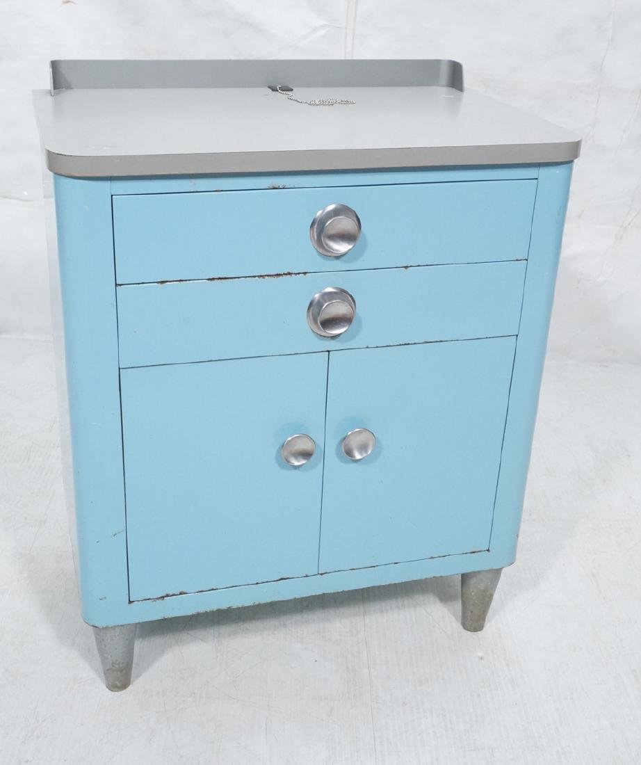 SIMMONS Style Metal Industrial Cabinet. Gray lami