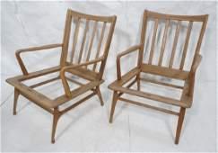 Pr Modernist Lounge Chair frames. Open arms.  Ita