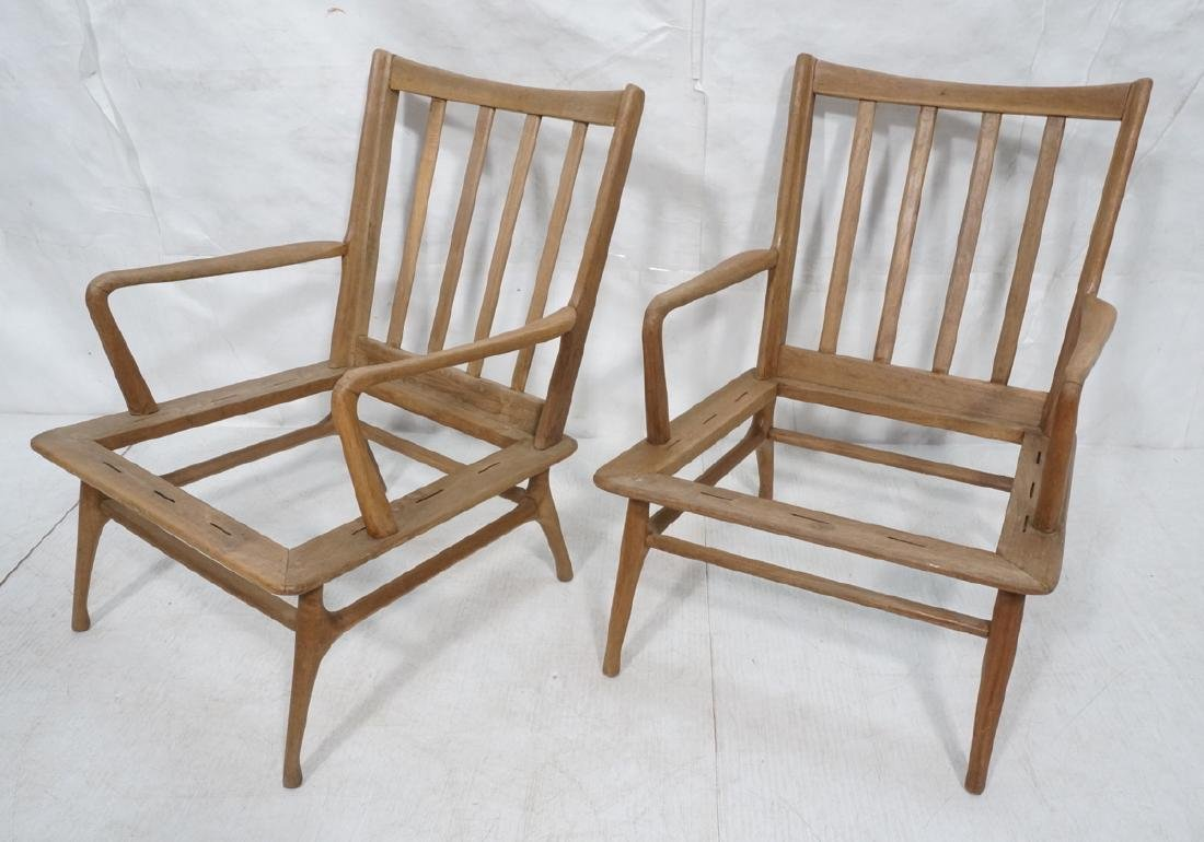 Pr Modernist Lounge Chair frames. Open arms.  Ita
