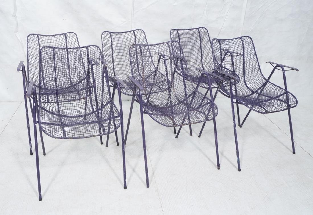 6 Purple RUSSELL WOODARD  Patio Chairs. Mesh shel