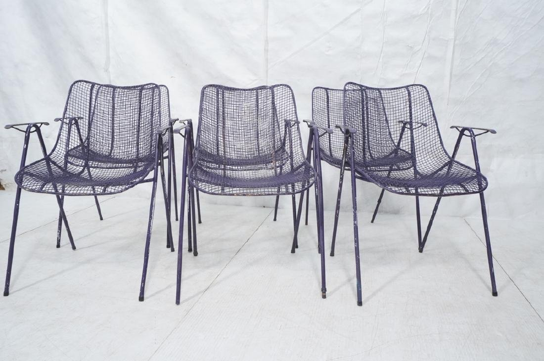6 Purple RUSSELL WOODARD  Patio Chairs. Mesh shel - 2