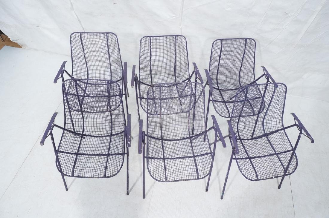 6 Purple RUSSELL WOODARD  Patio Chairs. Mesh shel - 3