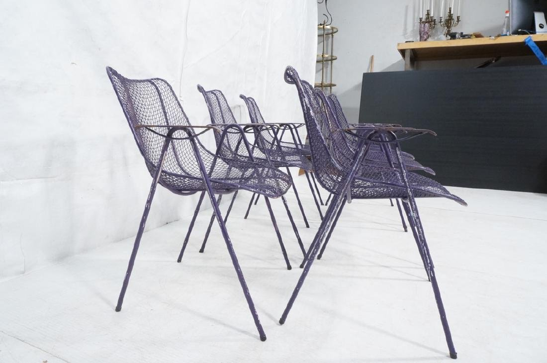 6 Purple RUSSELL WOODARD  Patio Chairs. Mesh shel - 4