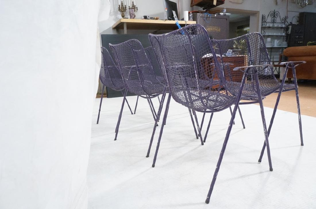 6 Purple RUSSELL WOODARD  Patio Chairs. Mesh shel - 5