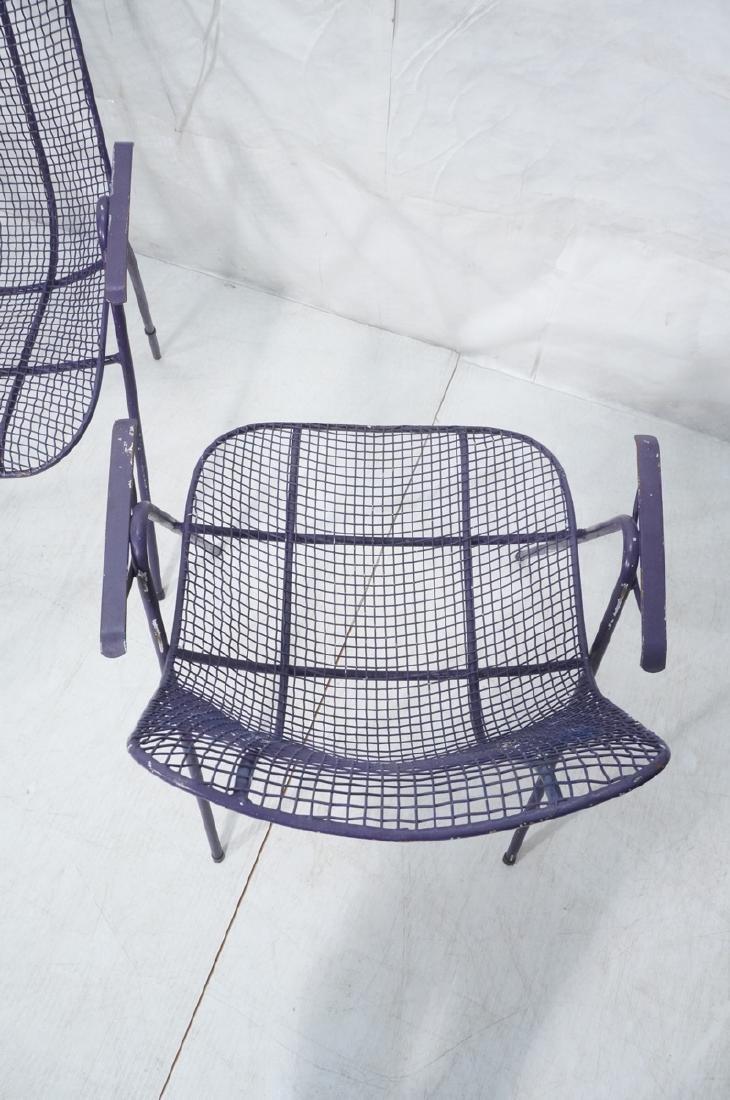 6 Purple RUSSELL WOODARD  Patio Chairs. Mesh shel - 8