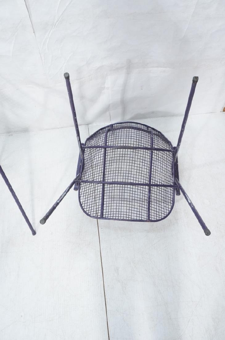 6 Purple RUSSELL WOODARD  Patio Chairs. Mesh shel - 9