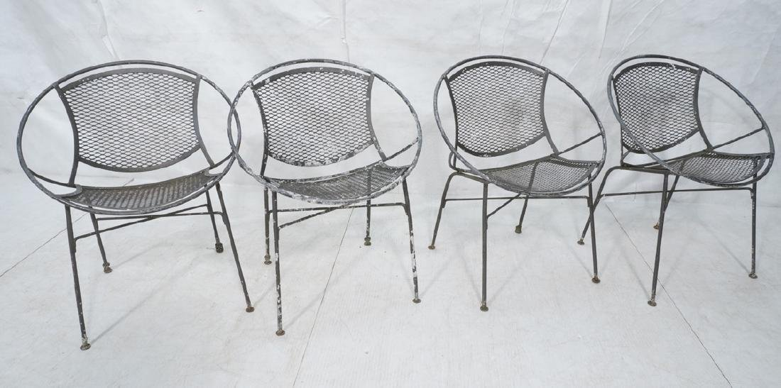 4 TEMPESTINI for SALTERINI  Circle Patio Chairs.