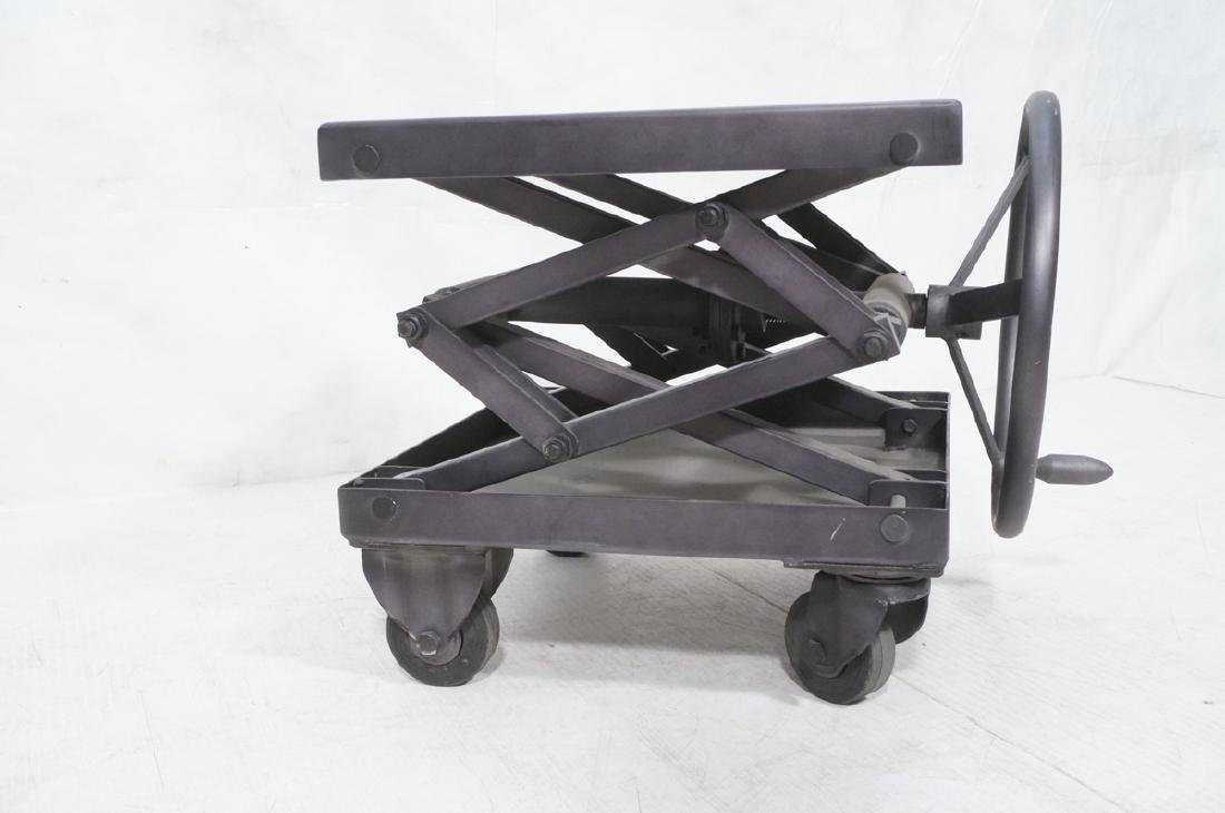 Restoration Hardware Industrial Side Table. Heavy - 2