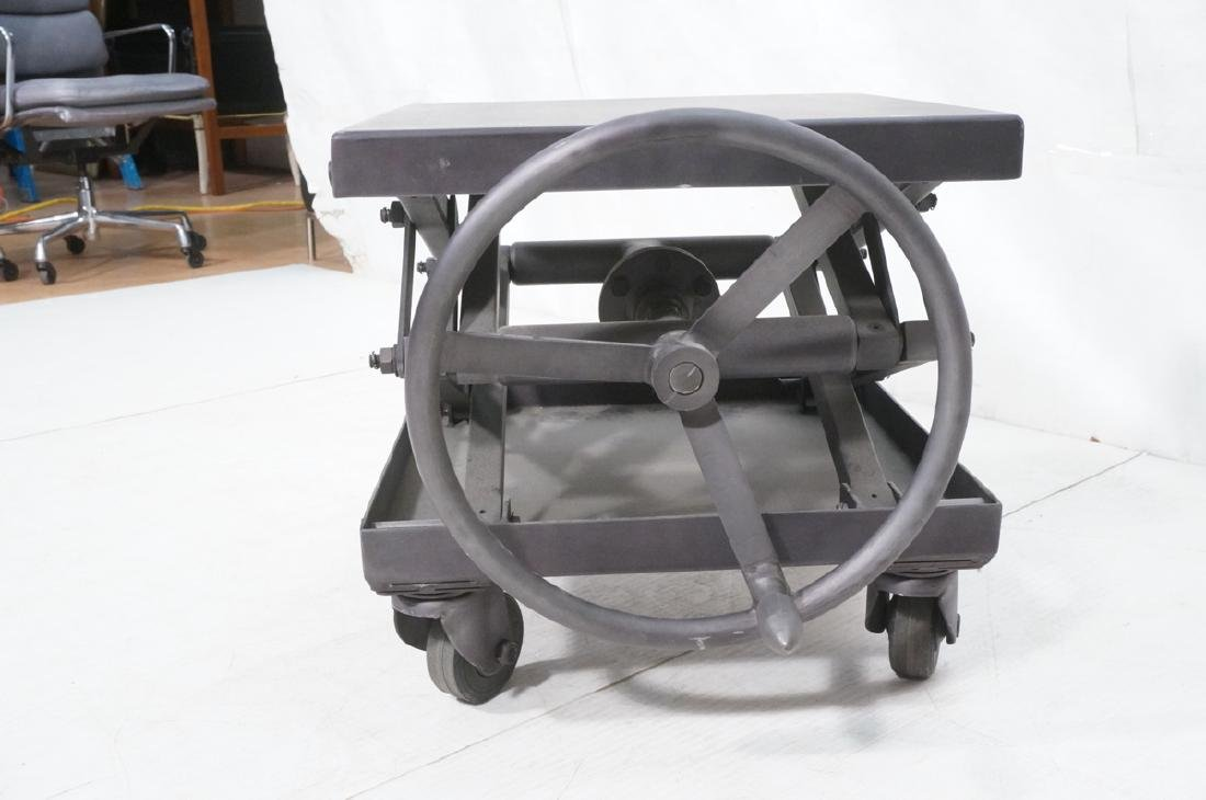 Restoration Hardware Industrial Side Table. Heavy - 3