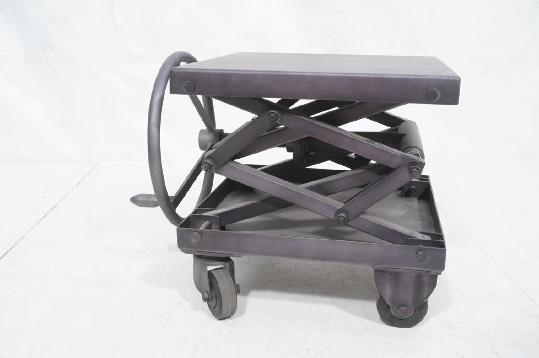 Restoration Hardware Industrial Side Table. Heavy - 4