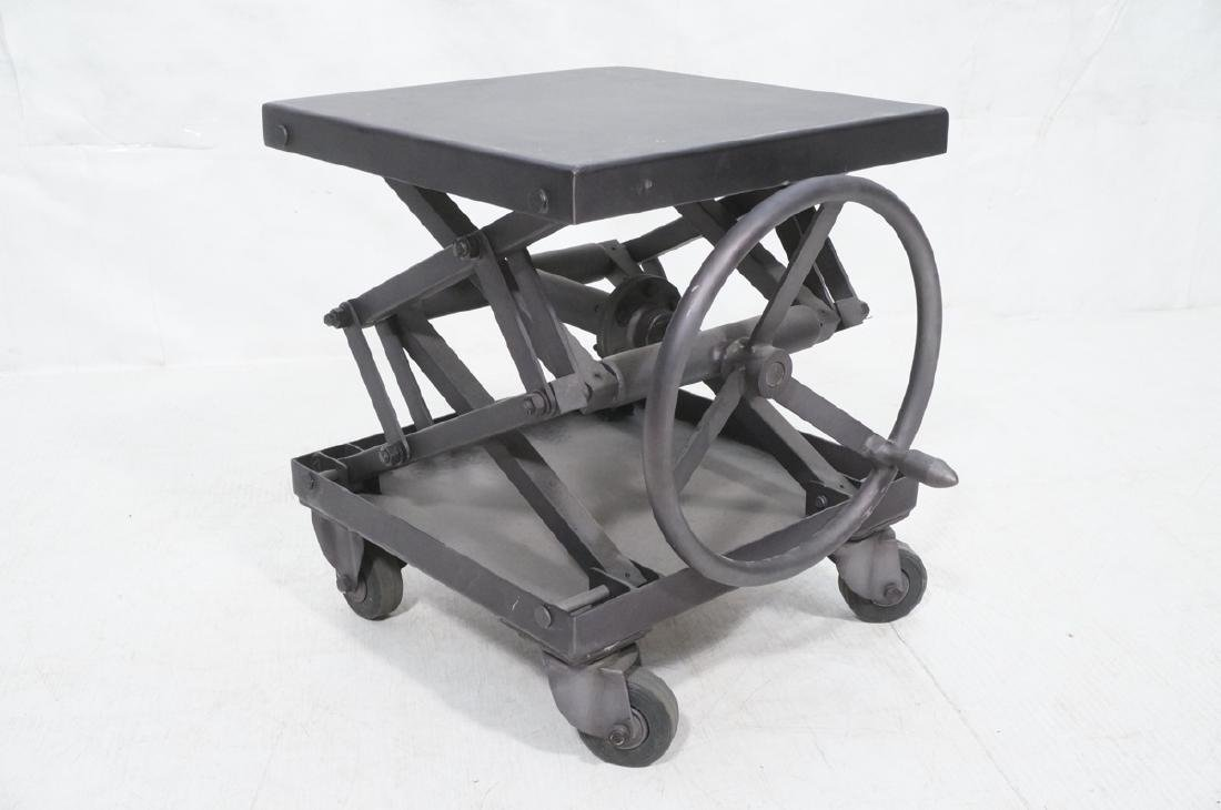 Restoration Hardware Industrial Side Table. Heavy - 7
