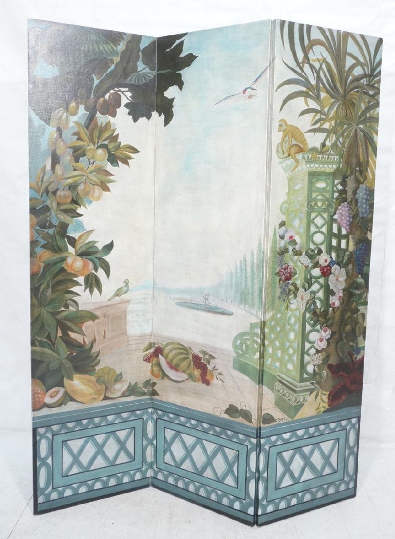 Maitland Smith 7 ft 3 Panel Decorative Room Divid