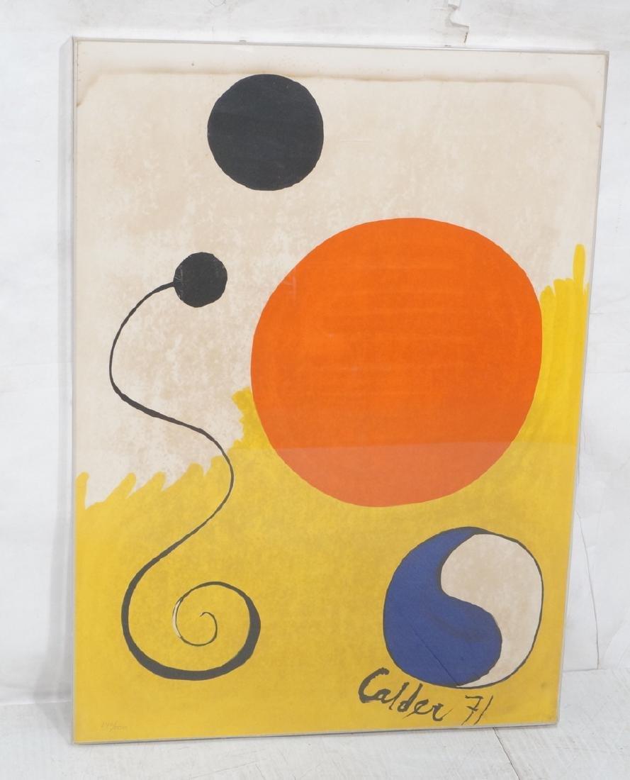 ALEXANDER CALDER Print. White and yellow ground w