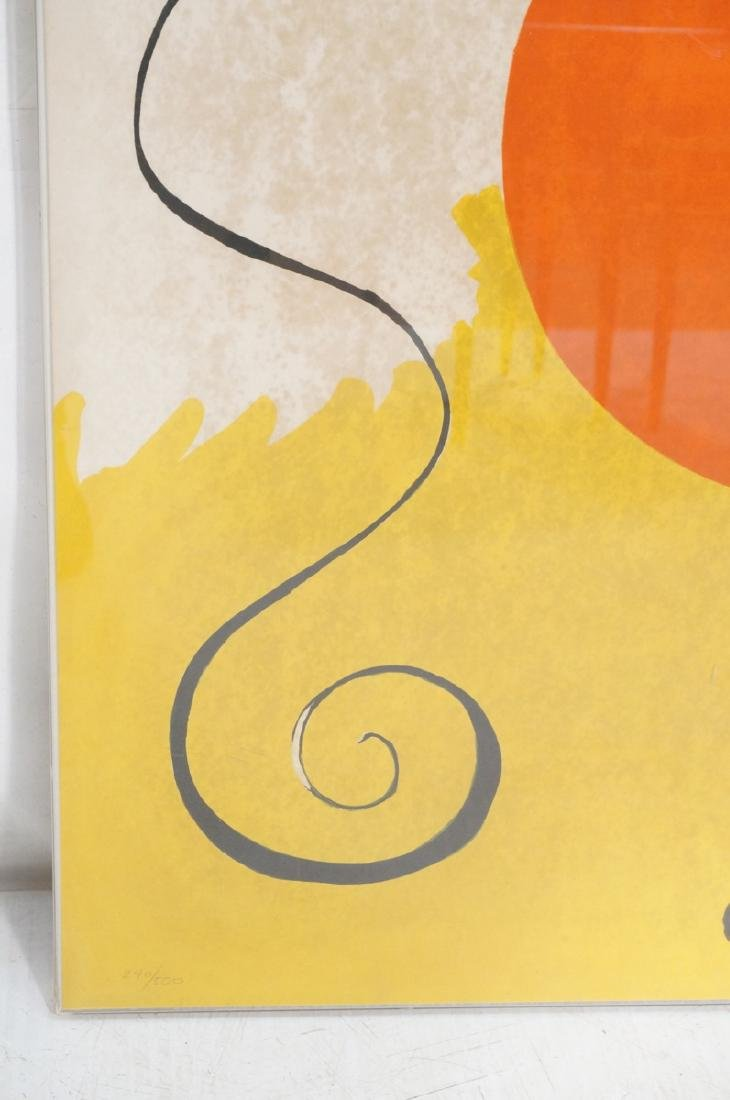 ALEXANDER CALDER Print. White and yellow ground w - 5