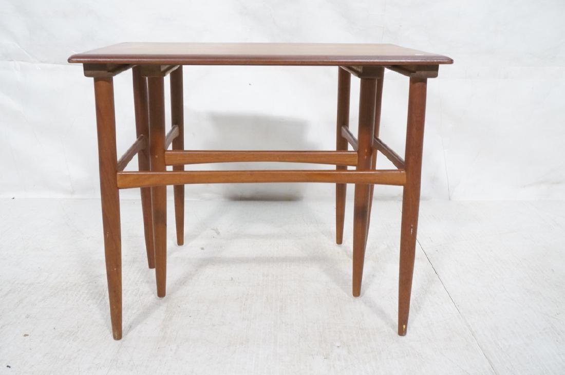 2pc American Modern Walnut Nesting Tables. Banded - 4