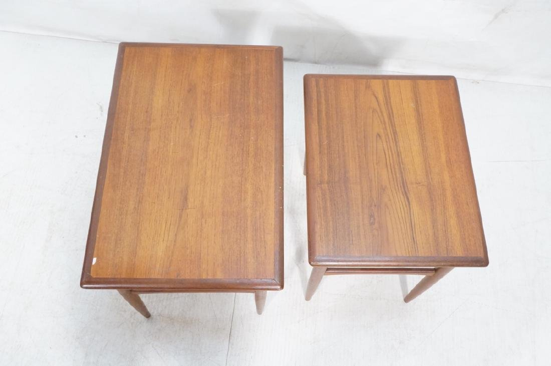 2pc American Modern Walnut Nesting Tables. Banded - 6