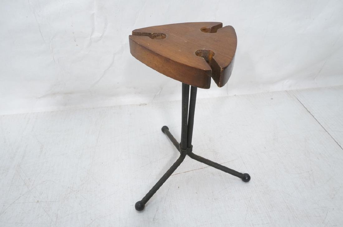Modernist Fireplace Tools on Stand. 3 wood handle - 5